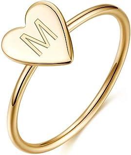 خواتم من الفضة الإسترلينية 925 للفتيات والنساء من ميموريجو، خاتم تجميع رائع على شكل قلب أولي للنساء والفتيات مجوهرات هدايا