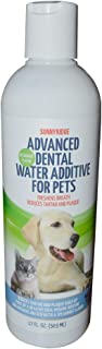 Sonnyridge Dog Advanced Dental Water Additive Removes Tartar and Plaque and Reduces Periodontal Disease for Your Dog or Cat. The Most Advanced Dental Water Additive for Healthy Teeth, and Gums