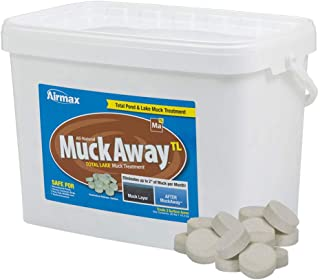 Airmax MuckAway TL, Concentrated Total Lake Muck Reducer Tablets, Natural Pond Sludge Remover, 36 lbs