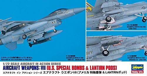 Hasegawa 1/72 Scale Aircraft Weapons VII - US Special Bombs & Lantirn Pods, Aircraft in Action Series Accessory Model Kit # 35012