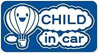 imoninn CHILD in car ステッカー 【マグネットタイプ】 No.32 気球 (青色)