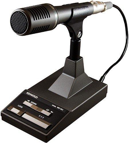 Lowest Price! Kenwood Original MC-90 DSP-Compatible Desktop Microphone with UP and Down/PTT and PTT ...