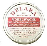 DELARA - Cera para muebles de muy alta calidad con jojoba y cera de abejas, protege contra la deshidratación y la oxidación, 150 ml, fabricada en Alemania