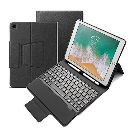 iPad 9.7 Bluetooth キーボード iPad Air/Air2 ワイヤレスキーボード 超薄TPUケース ペンシル収納付き ブルートゥース Bluetooth キーボード スタンド カバー