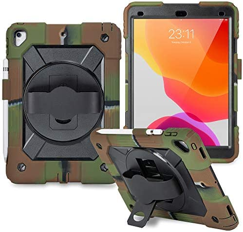 iPad 7th Generation Case iPad 10 2 Case Hybrid Three Layer Armor Shockproof Rugged Drop Protection product image