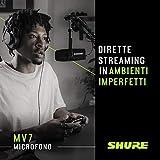 Immagine 2 shure microfono podcast usb mv7