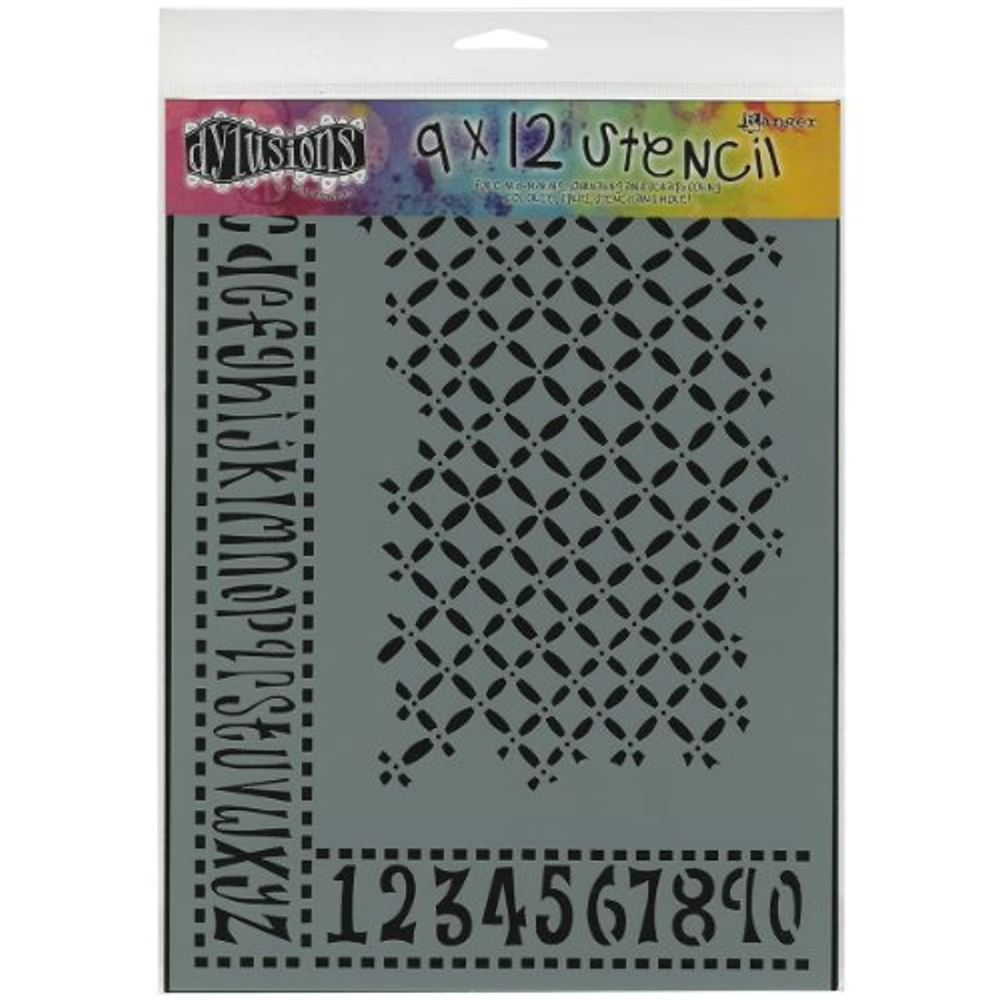 Ranger Dyan Reaveley's Dylusions Stencils, 9 by 12-Inch, Alphabet Border