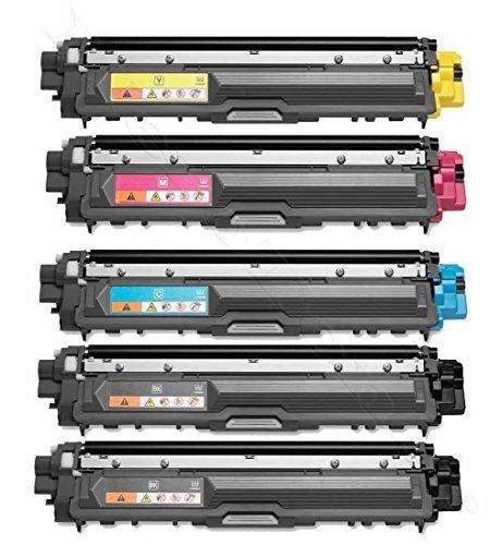 Merotoner - 5 Toner Kompatibel zu Brother TN-242 TN-246 HL-3142 3152 3172 CW CDW kompatibel (BK,C,Y,M)