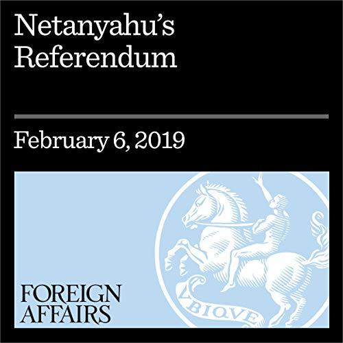 Netanyahu's Referendum audiobook cover art