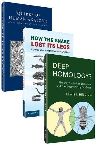 Evo-Devo Bundle 3 Paperback Book Set: Quirks of Human Anatomy, How the Snake Lost its Legs, Deep Homology?