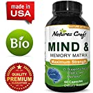 Enhance Brain Memory + Boost Focus + Improve Clarity Mind Booster Supplement For Men And Women - Contains Vitamins + Pure Herbal Ingredients - Natural Cognitive Brain Nutrition #4