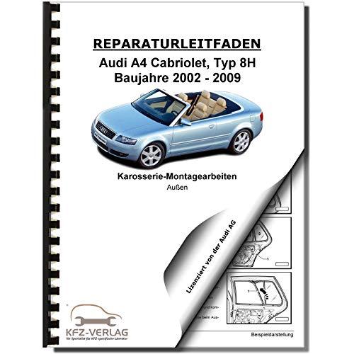 Audi A4 Cabriolet 2002-2009 Karosserie Montagearbeiten Außen Reparaturanleitung