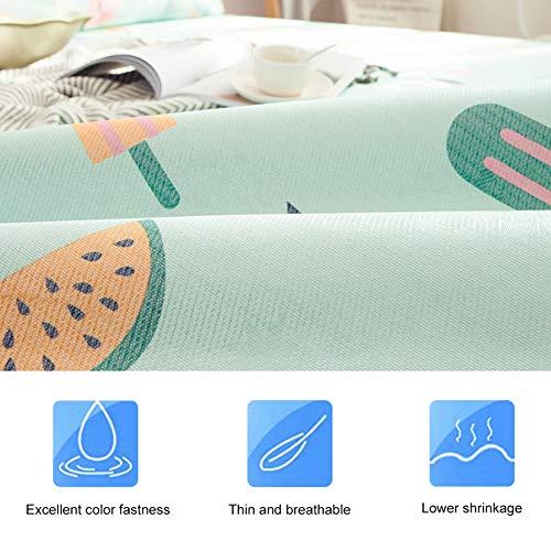 Zomer 3D-bedrukte matras, 3D-afdrukken Watermeloen Opvouwbare zomerijs Zijden hoes Koelmat met kussensloop - Zomer koelmatras(180 * 200cm pillowcase 48 * 74cm * 2)