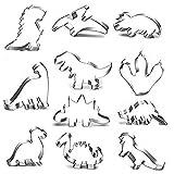 JOJOR Cortadores Galletas Dinosaurio, 11 Piezas Molde Galletas Dinosaurios para Niños Dinosaurios Tematica Cumpleaños Decoracion (Dinosaurios 11pcs)