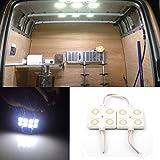 AZKQJ 10 x 4 LED White Interior Lights Ceiling Lights Kit For Van Boats Caravans Trailers Lorries Sprinter Ducato Transit LWB DC 12V