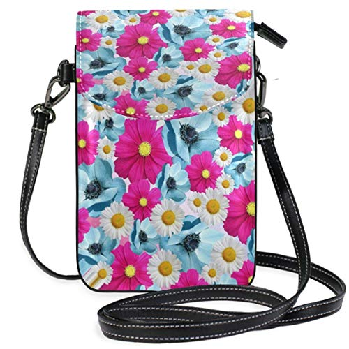 XCNGG Monedero pequeño para teléfono celular Flowers Blossom Bloom Nature Plant Cell Phone Purse Wallet for Women Girl Small Crossbody Purse Bags
