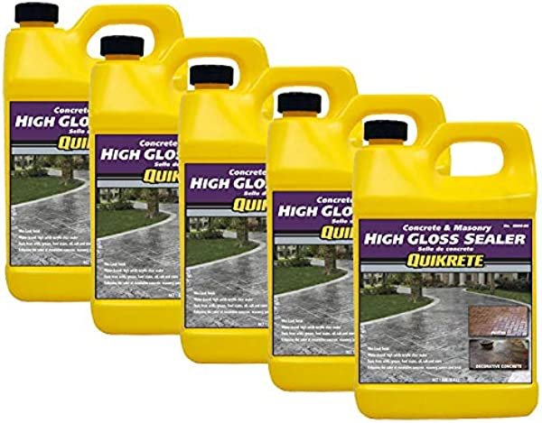 Quikrete High Gloss Sealer Wet Look Gal Quantity Of 5