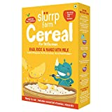 Slurrp Farm Organic Baby Cereal, Ragi, Rice and Mango with Milk, Instant Healthy