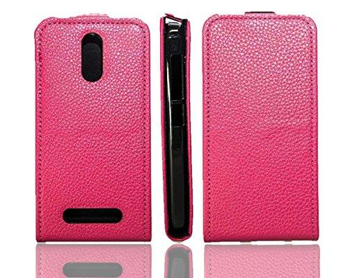 caseroxx Flip Cover für Archos 45 Neon, Tasche (Flip Cover in pink)