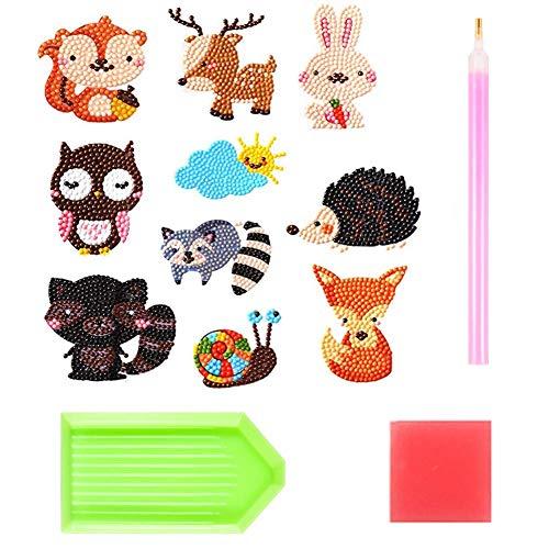 5D DIY Diamant Schilderij Kits voor Kinderen Diamant Kits Verf door Getallen Diamant Puzzels Sticker (Fox)