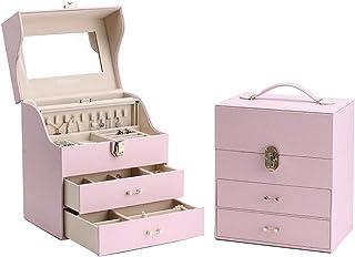 Jewelry Boxes Jewelry Box Earring Box Boxes & Organisers Princess Jewelry Storage Box Large Capacity Necklace Watch Box We...