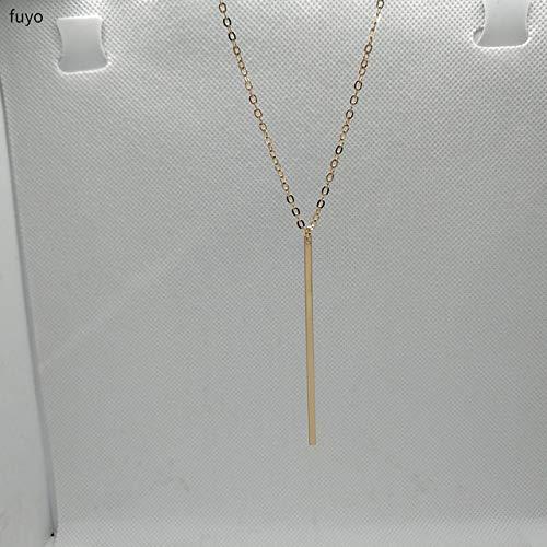 XIANGLIANDIAN Damenhalskette New Gold, Silber, Star Bar Shaped Halskette, Damen Halskette Modeschmuck, Kragen, Anhänger Halskette Goldbarren