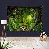 GenericBrands Fondo Natural de la tapicería del Paisaje del Bosque Verde del Lago Fondo de la Tela Colgante de Pared para el Dormitorio Sala de Estar Dormitorio