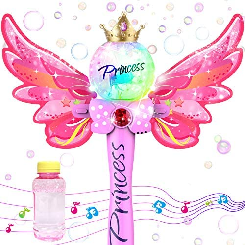 WisToyz Bubble Machine Bubble Blower with Detachable Wings Musical Light up Bubble Wand 1000 product image