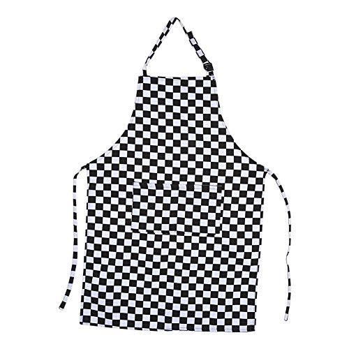 Zerone Küchenschürzen, 5 Muster Damen Herren Praktische Küche Restaurant Chef Kochschürzen Kleid Mit Taschen(02)
