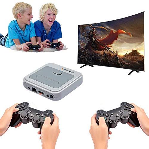 Consola De Videojuegos Console X, Mini Consola Clásica para TV 4K, Juegos Retro Clásicos Incorporados 41000+, Juegos Arcade Nostálgicos con 2 Controladores Inalámbricos
