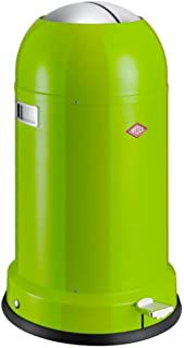 Wesco Kickmaster Classic-German Designed-Step Trash Can, Powder Coated Steel, 8.7 Gallon/33 L, Lime Green