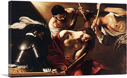 ARTCANVAS The Crowning with Thorns 1607 Canvas Art Print by Caravaggio - 40