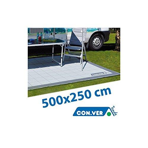 Toldo para Veranda CONVER Alfombra lavable Autocaravana Caravan Cámping - 500x250 cm