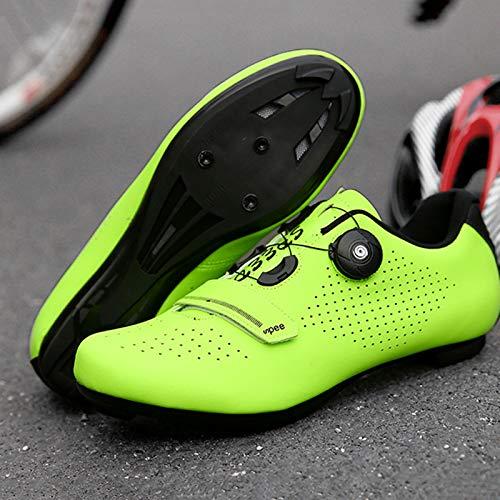 Zapatillas Bicicleta Carretera, Zapatillas Ciclismo Para Hombre, Zapatillas CóModas Primera Calidad, Con Tacos, Zapatillas Spd Para Hombre, Zapatillas Ciclismo Carretera Para Interior C-UK 3=EU 36