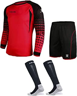 Goalkeeper Shirt Uniform Bundle - Includes Jersey, Shorts & Socks - Protection Pads on Shorts & Shirt - Kids and Adult Sizes