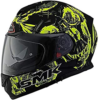 SMK MA240 Twister SKULL Graphics Pinlock Fitted Full Face Helmet With Clear Visor (Large)