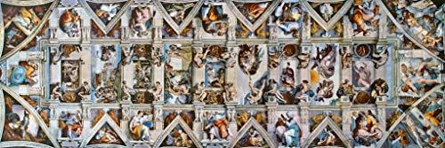 Michelangelo Sistine Chapel Ceiling Fine Art Panoramic Cool Wall Decor Art Print Poster 36x12