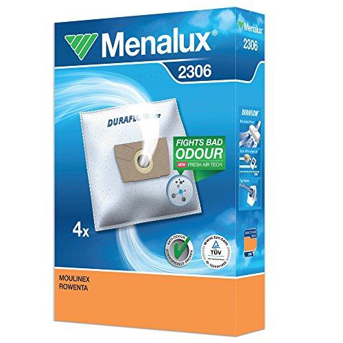 Menalux 2306 - Pack de 4 bolsas sintéticas para aspiradoras