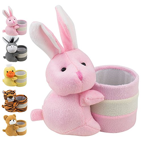 Eyeglass Holder Glasses Stand with Cute Plush Animal Character Design, Bunny, by OptiPlix - http://coolthings.us