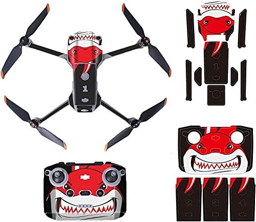 TMOM DIY Stickers Adesivo Decalcomania Pellicola Protettiva per DJI Air 2S PVC Impermeabile Drone e set di Decalcomanie per Telecomando (Squalo)