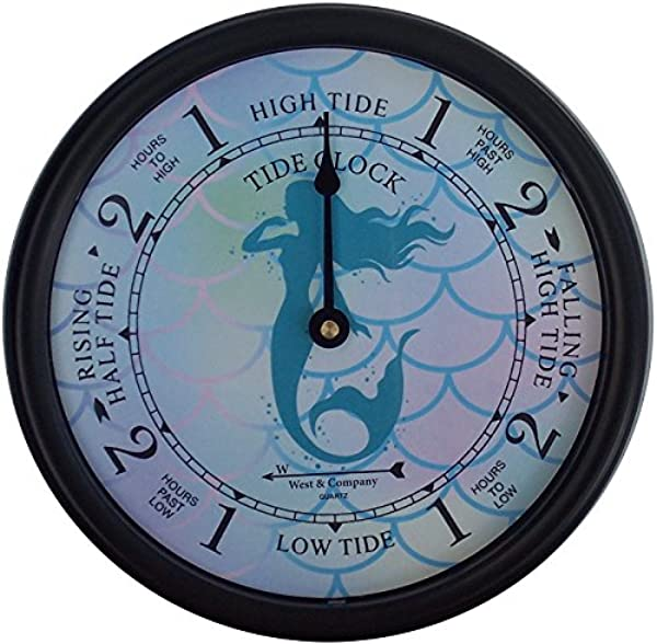 West Company 9 1 2 Mermaid Tide Clock