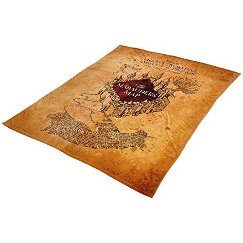 Elbenwald Harry Potter Manta Polar Mapa de los merodeadores Mapa de los merodeadores 180x220cm Color Beige
