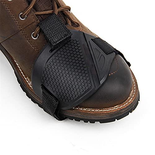 Protector de Zapatos de Motocicleta,Protector de Arranque,Alfombrilla de Goma Zapatos de Verano Palanca de Cambios de Motocicleta Cubierta Protectora Antidesgaste Para Los Dedos Del Pie 2pcB