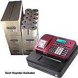 EPOSBITS® - Rollos para caja registradora Casio SE-S100 SES100 SES SE S100 100 (100 unidades), color rojo