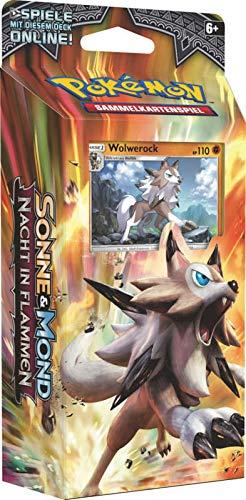 Lively Moments Pokemon Karten Nacht in Flammen Themendeck DE Deutsch Sammelkarten Spielkarten Felsenfest - Wolwerock