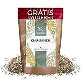 Chia Samen ganz 900g | Premium Chiasamen naturbelassen Krautberger Superfood ohne Zusätze inkl gratis Ratgeber hochwertiges Lebensmittel ohne Zusätze