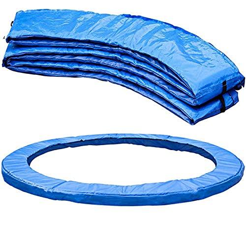 Almohadilla de seguridad de repuesto para trampolín, almohadilla para trampolín, almohadilla envolvente, almohadillas de repuesto, cubierta de resorte azul para máxima seguridad