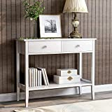 BTM Console Table with 2 Drawers, Wooden Entryway
