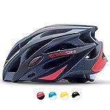 MOON 自転車 ヘルメット ロードバイク サイクリング ヘルメット 超軽量 高剛性 サイズ調整 25通気穴 スポーツ 大人 男女兼用 (グレーレッド — M)