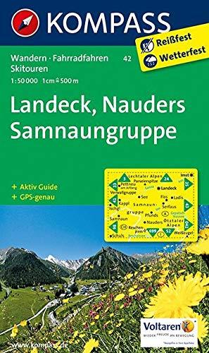 KOMPASS Wanderkarte Landeck - Nauders - Samnaungruppe: Wanderkarte mit Aktiv Guide, alpinen Skirouten und Radrouten. GPS-genau. 1:50000 (KOMPASS-Wanderkarten, Band 42)